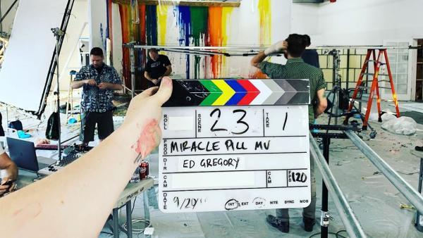 Behind the Scenes recording the Miracle Pill music video